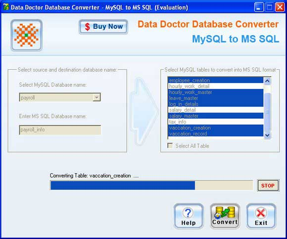 Windows 7 MySQL to Microsoft SQL Converter 2.0.1.5 full